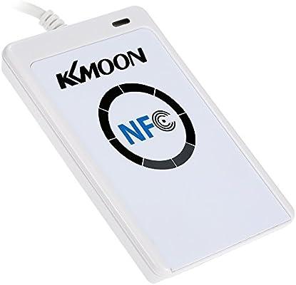 KKmoon NFC ACR122U - Lector sin contacto con zumbador (RFID, USB 12Mbps, SDK, 5pcs S50 IC)