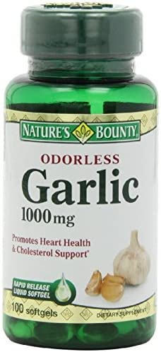 Nature s Bounty Odorless Garlic 1000mg, pack of 6