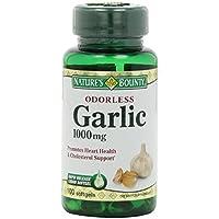 Nature's Bounty Odorless Garlic 1000mg, (pack of 6)