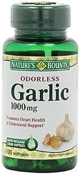 Nature s Bounty Odorless Garlic 1000mg, pack of 6