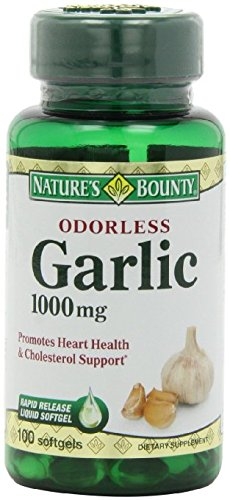 Nature's Bounty Garlic Extract 1000 mg, 100 Rapid Release Softgels (Pack of 6)