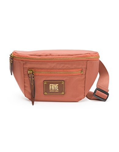(Frye Ivy Nylon Convertible Crossbody Belt Bag, Dusty Rose, One Size)