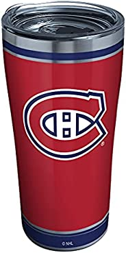 Tervis 1329364 NHL Montreal Canadiens Shootout Stainless Steel Insulated Tumbler with Clear and Black Hammer L