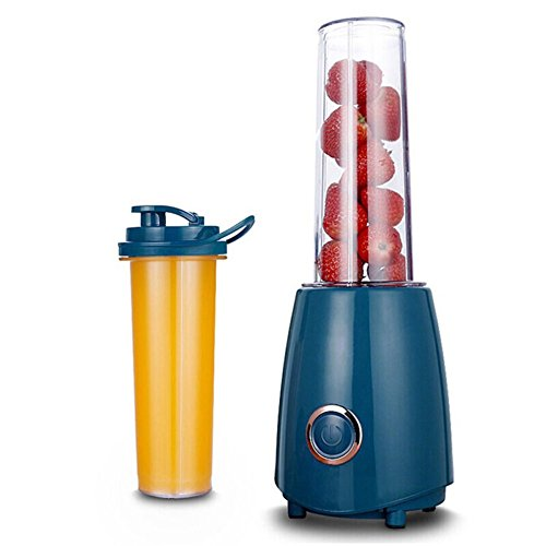 Personal Mini Blender With Travel Sport Bottle lid, Smoothie Maker Blender Portable Juicer Cup, 500 ml-blue