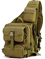 X-Freedom Military Sling Chest Backpack Tactical Daypack Chest Pack Bag Molle Ipad Laptop Bag One Strap Backpack...