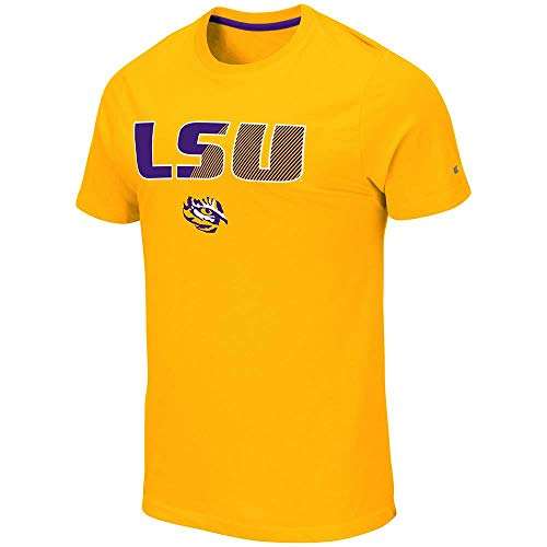 Colosseum Mens LSU Louisiana State Tigers Yona Short Sleeve Tee Shirt - L