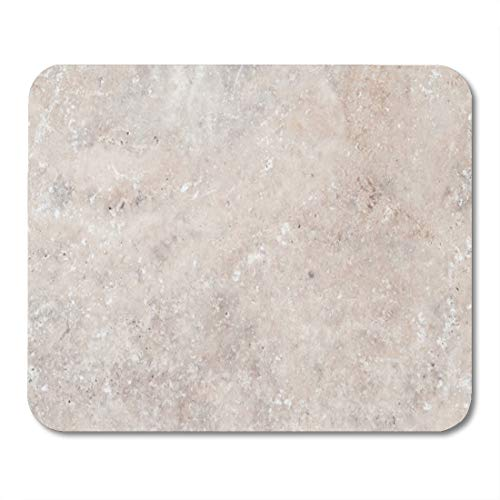 Aikul Mouse Pads Tan White Rock Marble Travertine Nature Cream Mouse Mat 9.5