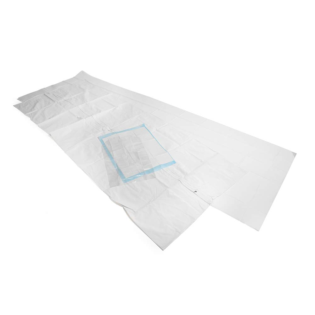 MediChoice Post Mortem Bag Kit, w/Straight Zipper, 36x90 Inches, Adult, 1314PM401K (Case of 10)