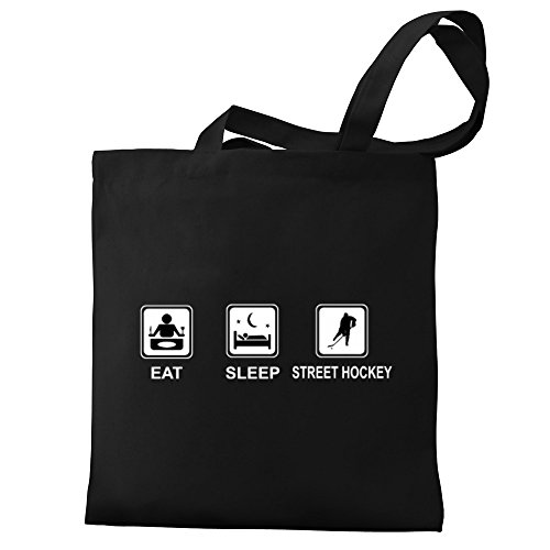 Eddany Canvas Bag Eddany Street Eat Eat sleep Tote Hockey 5UwgvUq
