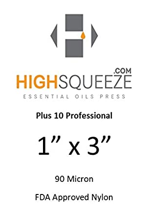 1x3 Rosin Extraction Micron (u) Filter Bags (25 Micron, 50) HighSqueeze
