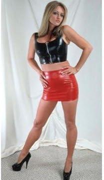 Bondage LeGastronomeSexy! - Mini falda de vinilo, latex - Rojo ...