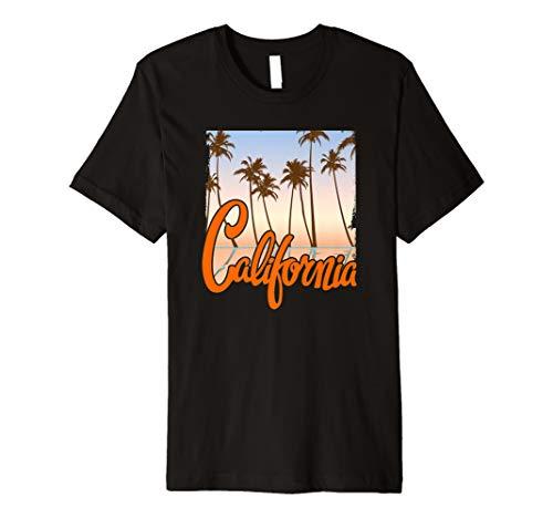 Distressed 70's Retro California Beach Summer Tee Shirt ()