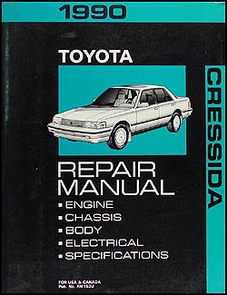1990 Toyota Cressida Repair Shop Manual