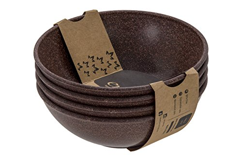 EVO Sustainable Goods 932 Salad Bowl Set, 24 oz, Dark Brown