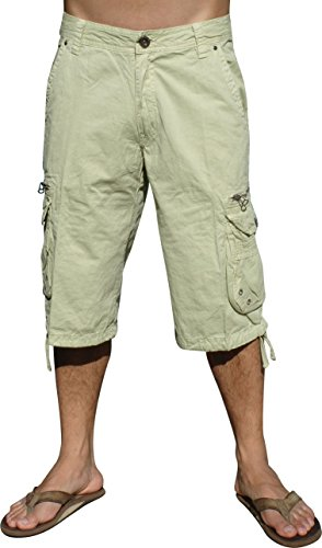Mens Military-style Cargo Pocket Shorts, Stone, #91S-2-42 by STONE TOUCH