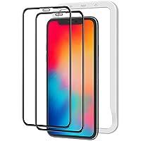 NIMASO 全面保護 ガラスフィルム iPhone11Pro iPhoneX Xs 用 画面 フィルム ガイド枠 2枚セット