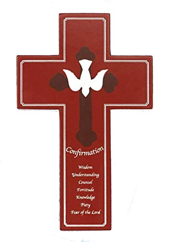 LMM001 8 inch Wood Red Confirmation Cross