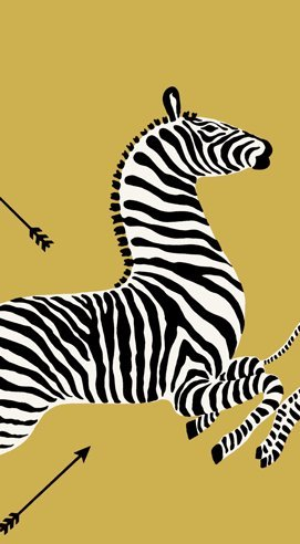 Entertaining with Caspari Guest Towels, Zebras Gold, Pack of 15