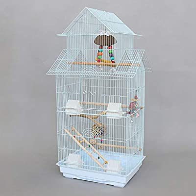 Jaula de pájaros de gama alta Se posa jaula de cría de aves, que ...