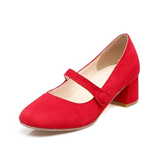 EU AdeeSu Femme Rouge Sandales 36 5 Red Compensées SDC05674 vxwZpqU8