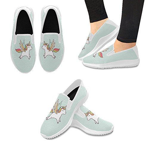 Interestprint Kvinna Slip-on Dagdrivaren Skor Duk Mode Sneakers Multi 9