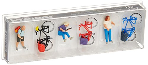 Preiser 10659 Cyclists' Short Break with Bikes Package(3) HO Model Figure