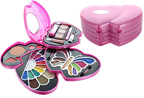 Br Makeup Kit - ETA Pink Double Heart Glamour Girl Makeup Color Kit BR