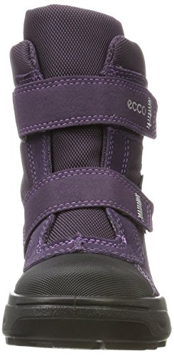 Ecco Mädchen Snow Rush Schneestiefel Violett (Black/Night Shade/Night Shade)