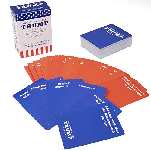 SCS Direct The World Hates Trump Card Game - Expansion One (80 Blue Answer Cards, 30 Red Question Cards)