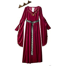 California Costumes Medieval Princess Queen, Royalty, Renaissance Girls Costume, XL 12-14 Berry
