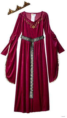 California Costumes Medieval Princess Queen, Royalty, Renaissance Girls Costume, XL 12-14 Berry]()
