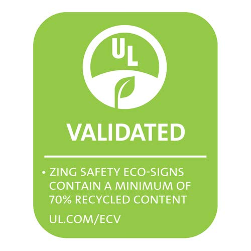 (ZING Eco Security Label, Notice Video Surveillance, 5Hx7W 2/Pack Adhesive Label (21)