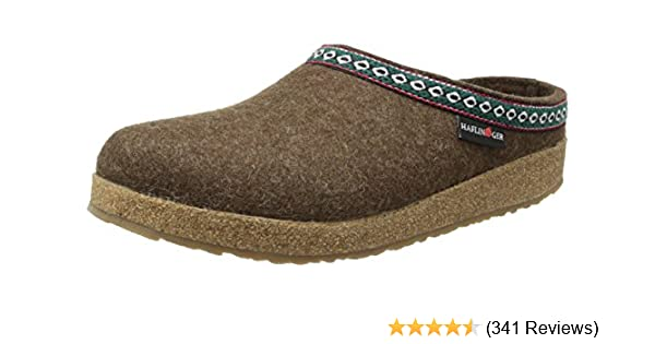69e66bbac Amazon.com | Haflinger GZ65 Classic Grizzly Clog | Mules & Clogs