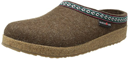 Haflinger GZ65 Classic Grizzly Clog, Chocolate, 9 M US Women's/7 M US Men's/40 EU