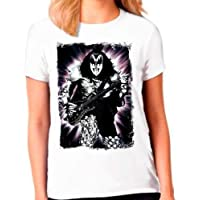 Camiseta Camisa Banda Rock Kiss Feminina
