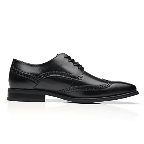 la mens dress shoes leather oxford wingtip lace up