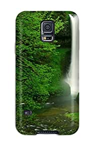 Fashion Protective Hidden Waterfall Earth Nature Waterfall Case Cover For Galaxy S5