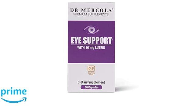 Los suplementos de alta calidad, soporte de los ojos, con Luteína, 30 Cápsulas - Dr. Mercola: Amazon.es: Salud y cuidado personal