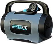 RinseKit Unisex's Plus Portable Shower, Black/Blue, one