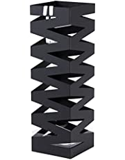 SONGMICS Paragüero Soporte de Paragüas Cuadrado 49 x 15,5 x 15,5 cm Negro LUC16B