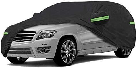Neverland Auto Abdeckplane Autoabdeckung Autogarage Winter Wasserdicht 420d Oxford Stoff Atmungsaktiv Kombi Vollgarage Phosphoreszierend Schwarz L 450x185x150cm Ca 2 68kg Auto
