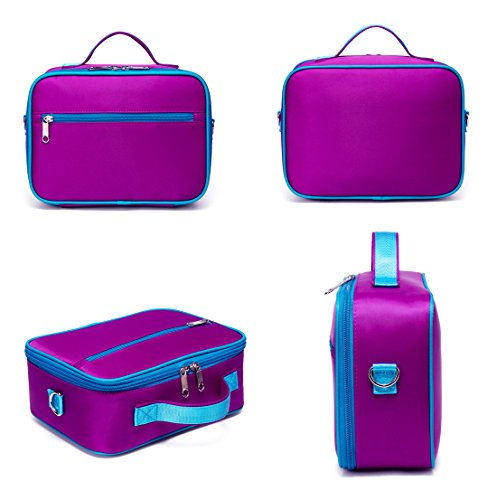 3686f3a508a9 BLUEFAIRY Girls Insulated Lunch Bag Small,Kids Lunch Box for School ...