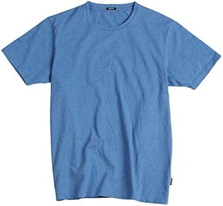 LSTGJ T-Shirt Sommer Farbe Baumwolle Garn Punkt Ausschnitt Herren Kleidung