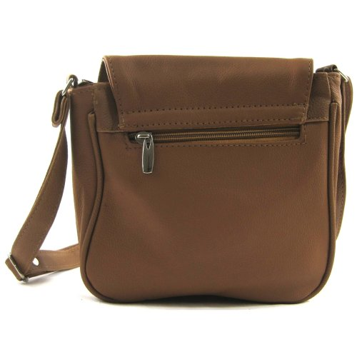 Tan Black Shoulder Leather Womens Dark Bag Tan Handbag Brown wgA6wFqnZ8