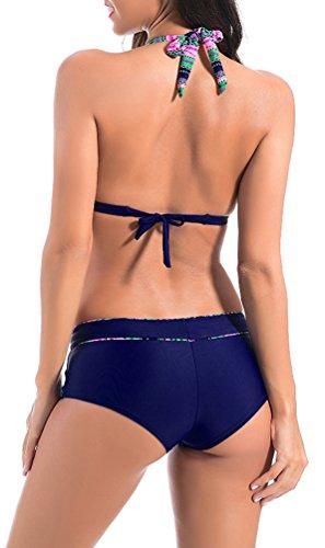 OLIPHEE - Conjunto - para mujer azul marino