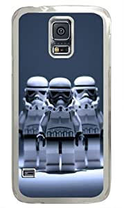 Three Robot Custom Samsung Galaxy S5 Case and Cover - Polycarbonate - Transparent