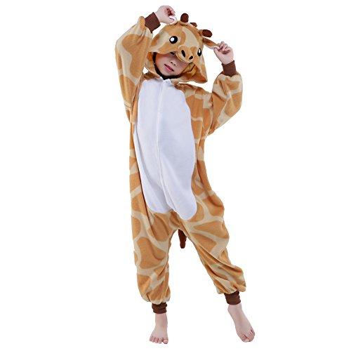 Sunrise Childrens Pajamas Sleeping Wear Anime Cosplay Onesie Homewear (105#, Giraffe) ()