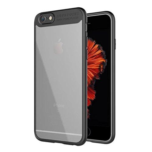 Cover iphone 7/8 silicone TPU paraurti morbido pieno trasparente chiaro copertura posteriore acrilica ultra-sottile del PC duro custodia morbida custodia rigida cassa protettiva del telefono moda semp