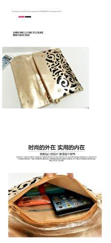Femme Creux Sac Candy Noir Fluorescence Color Messenger Gaorui Enveloppe BP1wqB