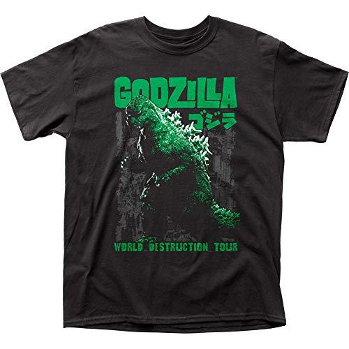 Impact Men's Godzilla World Destruction Tour T-Shirt, Black, Small